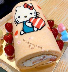 舒芙蕾kitty蛋糕捲
